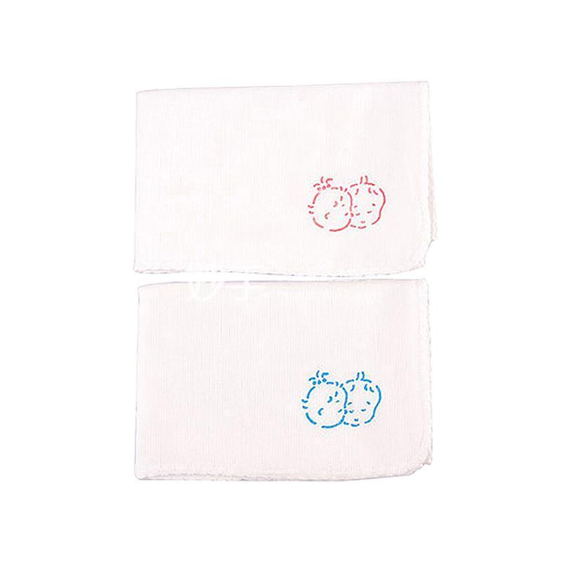 贝亲超柔纱布面巾(蓝、粉2入)2组