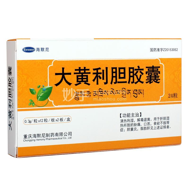 海默尼 大黄利胆胶囊 0.3g*24粒
