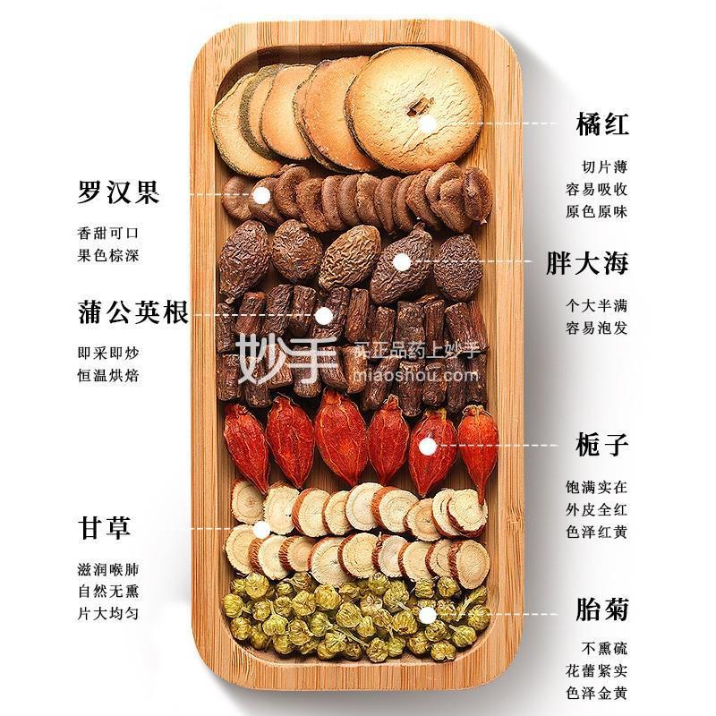 【福东海】橘红栀子茶 180克盒装